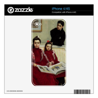 Family Portrait of a Boy and his Two Sisters, 1900 iPhone 4S Skins