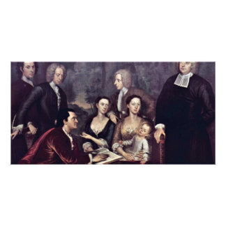 Family Portrait Of Dean George Berkeley By Smibert Photo Cards