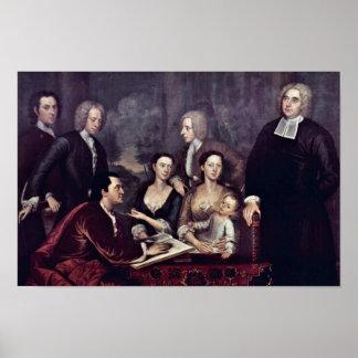 Family Portrait Of Dean George Berkeley By Smibert Poster