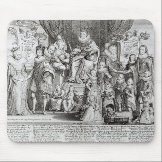 Family Portrait of James I of England Mouse Pad