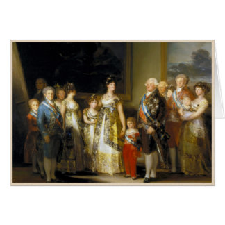 Family portrait of King Charles IVJose de Goya Card