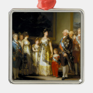 Family portrait of King Charles IVJose de Goya Metal Ornament