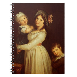 Family portrait of Madame Anthony and her children Spiral Notebook
