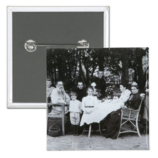 Family portrait of the author Leo N. Tolstoy Button