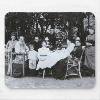 Family portrait of the author Leo N. Tolstoy Mouse Pads