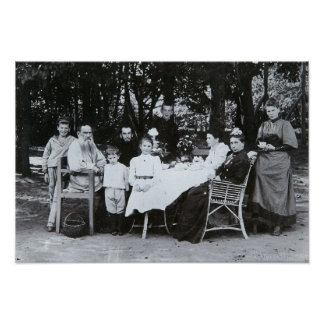 Family portrait of the author Leo N. Tolstoy Poster