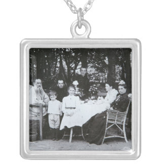 Family portrait of the author Leo N. Tolstoy Silver Plated Necklace