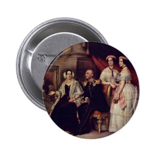 Family Portrait Of The Duke Joseph Of Saxe-Altenb Pinback Button