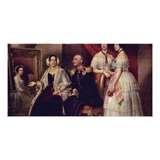 Family Portrait Of The Duke Joseph Of Saxe-Altenb Photo Greeting Card