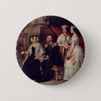 Family Portrait Of The Duke Joseph Of Saxe-Altenb Pinback Button