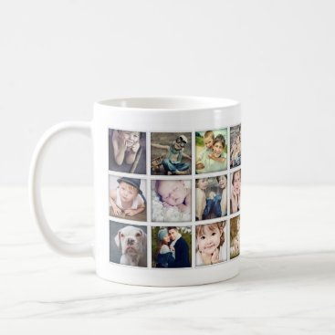 kat_parrella Family Portrait Photo Collage Mug for Grandparents