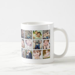 Family Portrait Photo Collage Mug for Mom