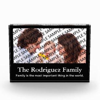 Family Portrait Photo Gift Template Acrylic Award