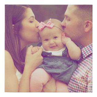 Family Portrait Photo Print Square at Zazzle