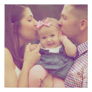 Family Portrait Photo Print Square