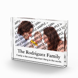 Family Portrait Photograph Gift Template Award