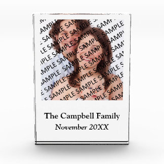 Family Portrait Photograph Gift Template Acrylic Award