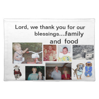 Family portrait placemats