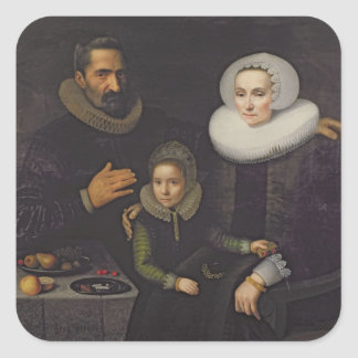 Family Portrait Square Sticker