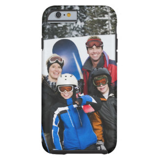 Family portrait with snowboards tough iPhone 6 case