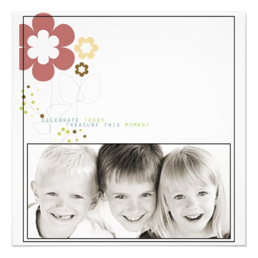 family potriat photo card announcement
