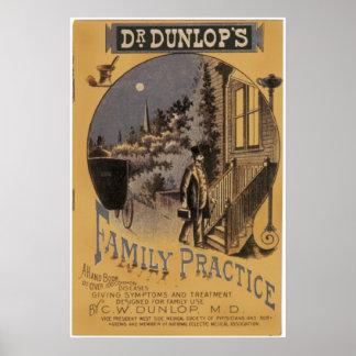 Family Practice, cubierta del Dr. Dunlop de libro Póster