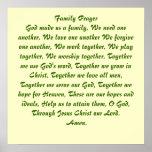 Family Prayer Poster