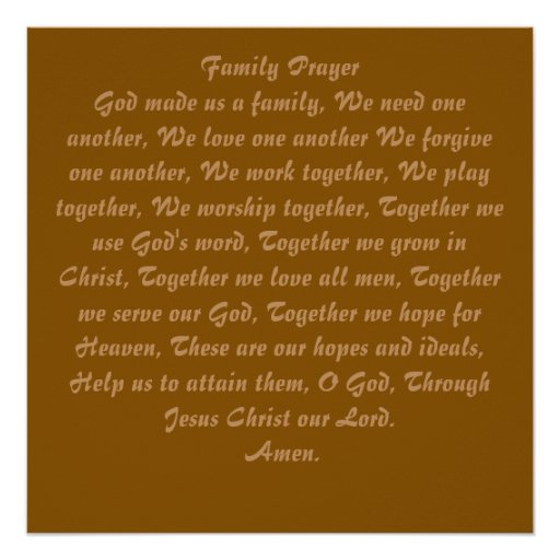 Family Prayer - Wall Poster