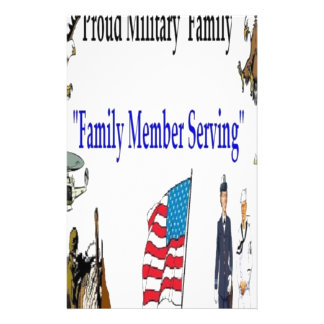 Family Proud Americans Customized Stationery