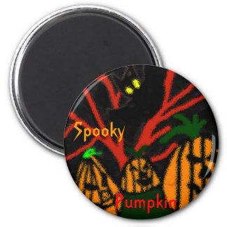 Family Pumpkin 2 Inch Round Magnet