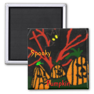 Family Pumpkin 2 Inch Square Magnet