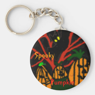 Family Pumpkin Basic Round Button Keychain