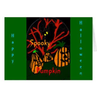 Family Pumpkin Card