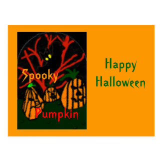 Family Pumpkin Postcard