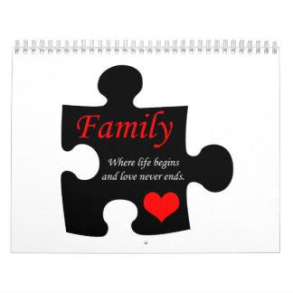 Family Puzzle Calendar