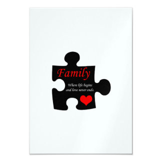 Family Puzzle Card