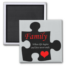 Family Puzzle Magnet
