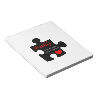 Family Puzzle Memo Note Pad