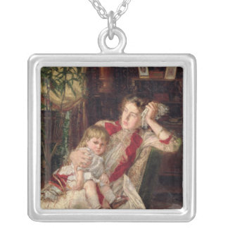 Family Quarrel, 1890 Silver Plated Necklace