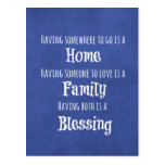 Family Quote Postcard