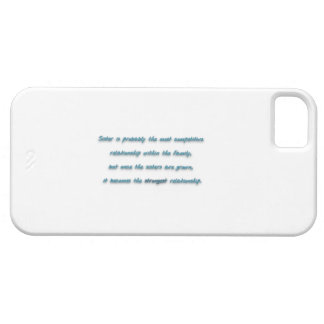 Family Quote - Sister is probably the most compe … iPhone 5 Cases