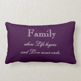Family Quote Throw Pillow