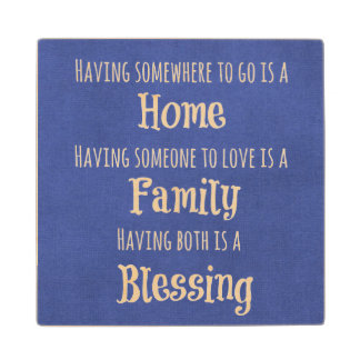 Family Quote Wood Coaster