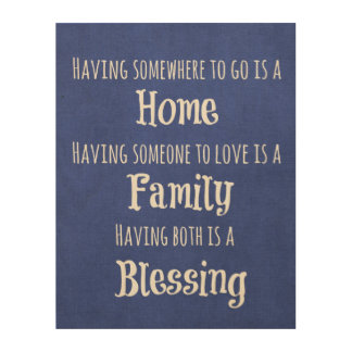 Wood Wall Art Quotes family quote wood wall art   zazzle