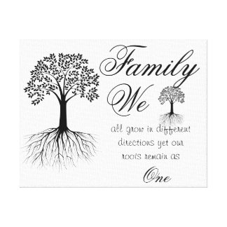 Family Quote/Wrapped Canvas