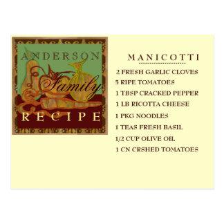 Family recipe card