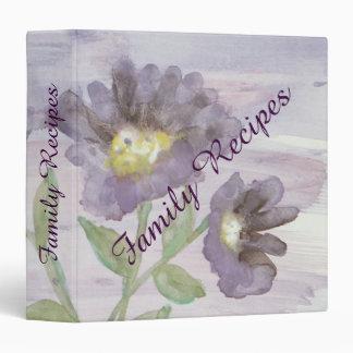 Family Recipe - Purple Sunflowers Binder