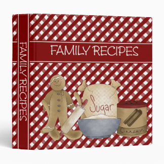 Family Recipes 1.5 inch Binder
