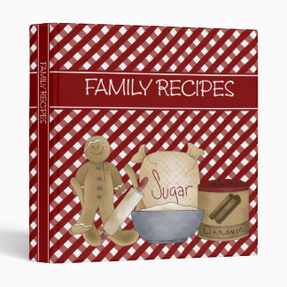 Family Recipes 1 inch Binder
