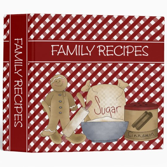 Family Recipes 2 inch Binder